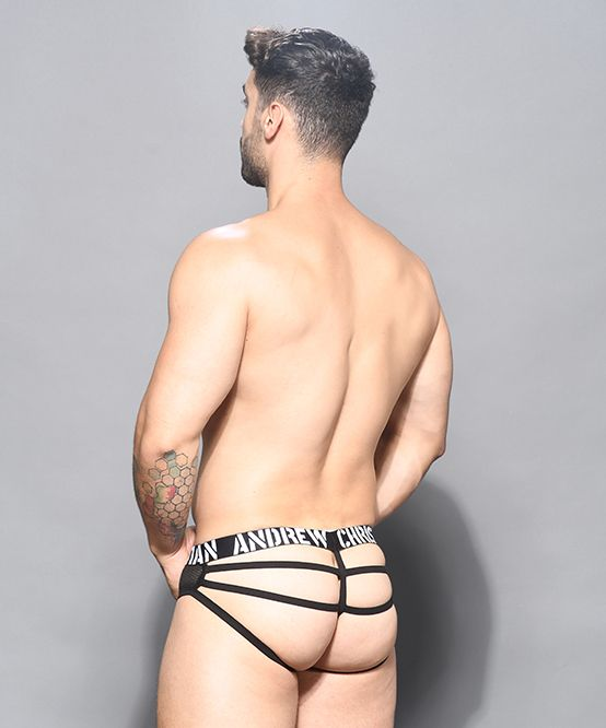 Rebel Mesh Cage Thong w/ Almost Naked