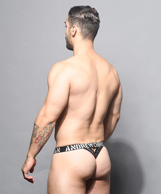 Barbed Wire Sheer Y-Back Thong w/ Almost Naked