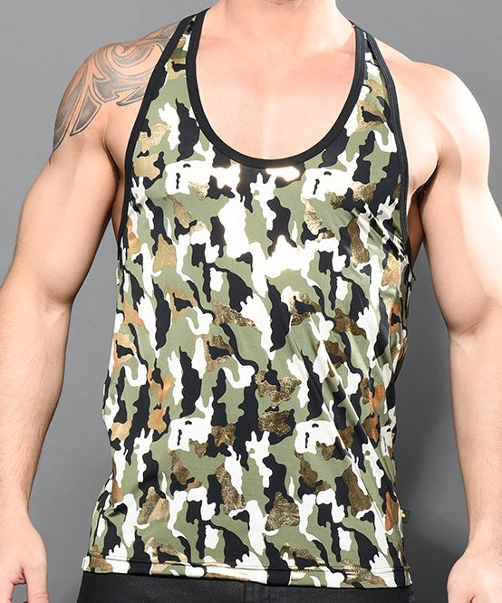 Glam Camouflage Tank Top