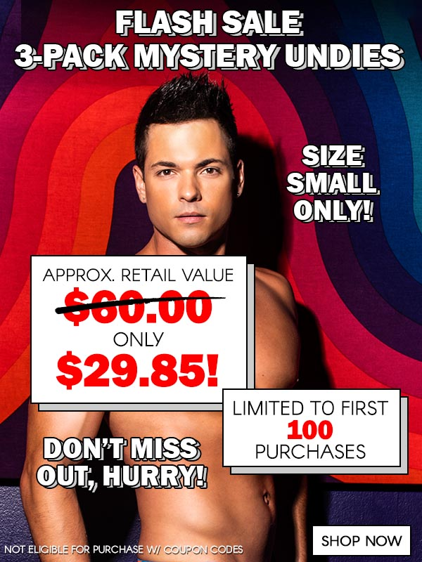 FLASH SALE! 3-Pack Mystery Undies Grab Bags (Size Small Only)