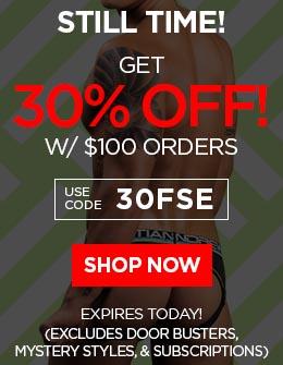 Get 30% OFF w/ $100 Orders