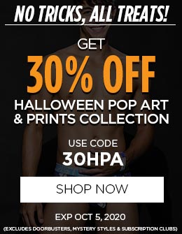 Get 30% OFF Sexy Halloween Pop Art & Print Undies