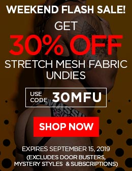 Get 30% OFF Mesh Fabric Undies