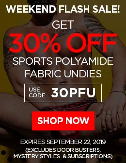 Get 30% OFF Sports Polyamide Fabric Undies