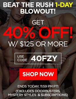 BEAT THE RUSH 1-DAY BLOWOUT! Get 40% OFF w/ $125 Or More