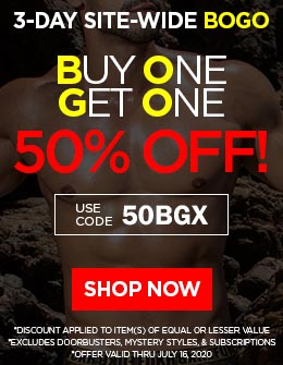SITE-WIDE BOGO!  Buy One Get One 50% OFF!