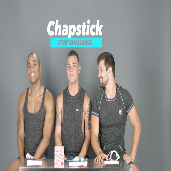 VIDEO: Chapstick Striptease Challenge