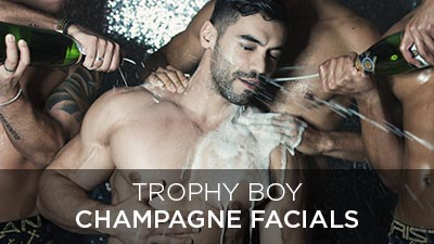 Trophy Boy Champagne Facials
